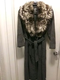 Cashmere Wool Coat with fox collar