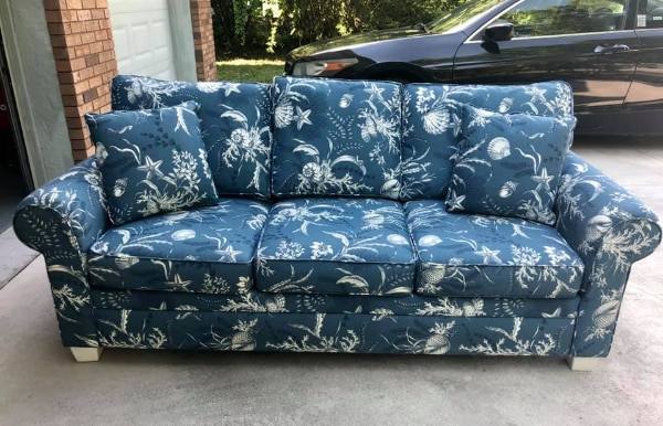 Astounding Tropical Print Comfy Sofa Bralicious Painted Fabric Chair Ideas Braliciousco
