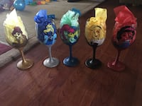 Hand painted Wine glasses Tracy, 95376