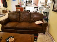 Brown leather couch 14 mi