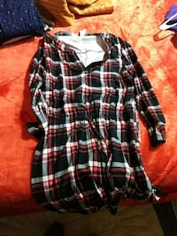 black, white, and red plaid dress shirt Rocky Comfort, 64861