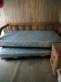 Wood Trundle Bed with twin mattress.  Phoenix, 85027