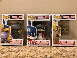 Thanos, Cap Snowman, Groot (Holiday) - Marvel Holiday Funko Pops!