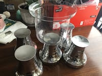 four clear glass candle holders Calgary, T2X