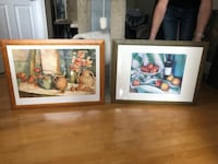 Two brown wooden framed paintings Langley, V2Y 1L5