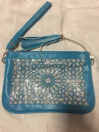blue and white floral crossbody bag 214 mi