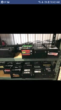 Automotive batteries used with warranty