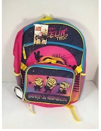 "New Despicable Me 3 Minions Backpack Attachable Lunch Bag Girls Pink 16""(pick up only) Alexandria, 22315"
