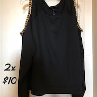black scoop-neck sleeveless top Mississauga, L4Y 4E2