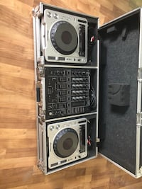 Pioneer DJ set with coffin carrying case
