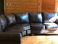 Brown leather sectional sofa with ottoman would make a great Christmas present I'm moving to a smaller place Clarksville, 37040