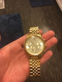 round gold Michael Kors chronograph watch with gold link bracelet Atlanta, 30329