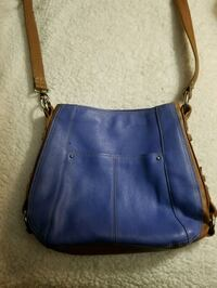 Tignanello Periwinkle Blue And Brown Leather purse Cranberry Township