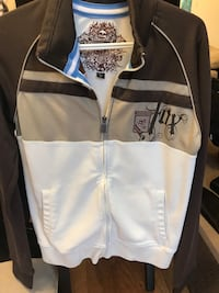 white and black zip-up jacket Burnaby, V5A 1C4