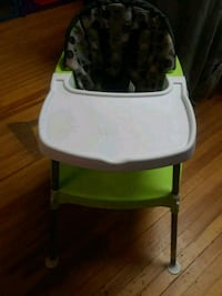 baby's white and green high chair Cohoes, 12047