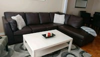 Brown bounded leather sectional Hamilton, L8E 3P6
