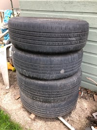 4 rims with tires Chrysler