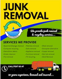 Junk removal/ Trash removal West Springfield
