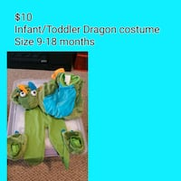 Infant/Toddler Halloween Dragon Costume 36 mi