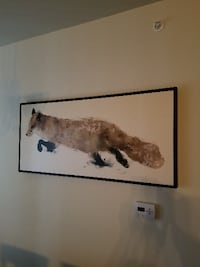 Crate and Barrel Fox Painting HALETHORPE