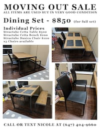 brown wooden dining table set Toronto, M2N 7C4