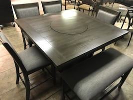 Brand New Pub Table Set With 4 Chairs & Bench