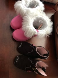 Two pairs of pink and black snow boots Edmonton, T6H