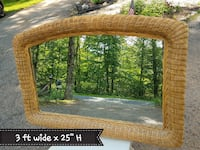 vintage wicker mirror 37 mi