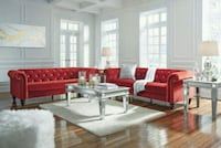 Malchin Red Sofa & Loveseat Houston, 77036