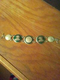 silver-colored beaded bracelet Round Lake Park, 60073