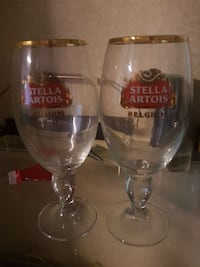 two Stella Artois stemmed glass Delta, V4C 6A7