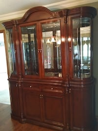 brown wooden framed glass display cabinet Toronto, M1X 1J2