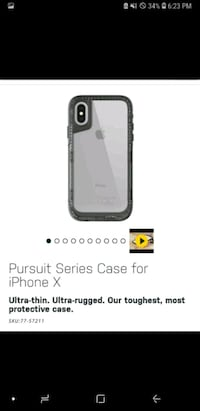 BRAND NEW IPHONE X PURSUIT OTTERBOX CLEAR/BLACK  Toronto