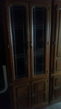 brown wooden framed glass display cabinet Peotone, 60468