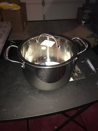 stainless steel stock pot with glass lid Pomona, 91768