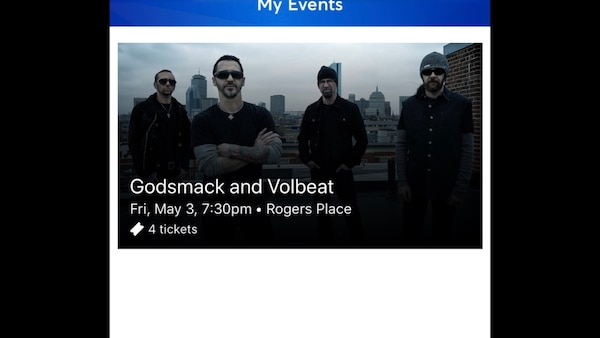 2 plus possibly a 3rd or 4th ticket to Godsmack
