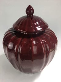 Large Red Pumpkin Ginger Jar  (1015070) South San Francisco