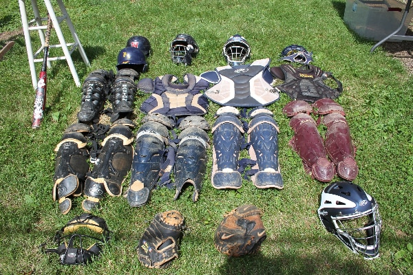 Baseball Catcher gear (adult and some YA)