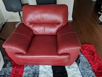 Red leather chair & White leather sofa Atlanta