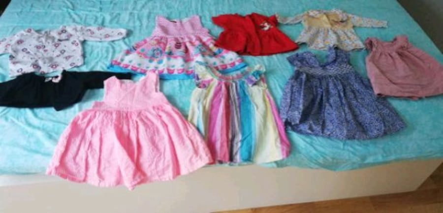 Nice froks and one jacket for baby girl c040ce41-da14-4811-a078-6c97295138d2