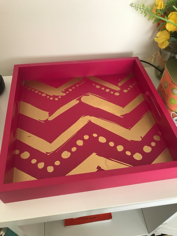 Pink and Gold Tray