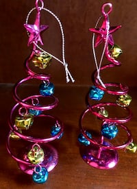 Miniature Pink Metal Spiral Tree with Bells Nashville, 37205
