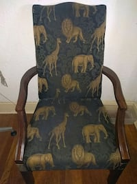 Two animal print chairs.  Jackson, 39206