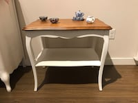 White and brown wooden table Coquitlam, V3K 3V9