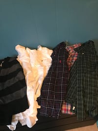 3 polo button ups 3 white button ups and sweater Reisterstown, 21136