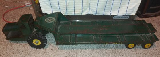 Nylint Large Tractor Low Boy Trailer Pressed Steel