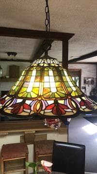 Tiffany Style Victorian Hanging Lamp Wellsville, 17365