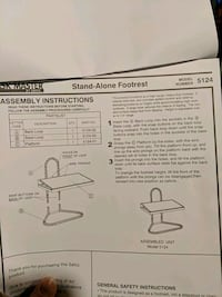 Stand Alone Footrest