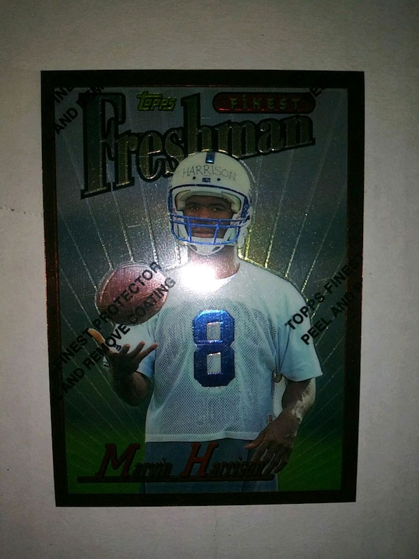 1996 Topps Finest Marvin Harrison Rookie Card