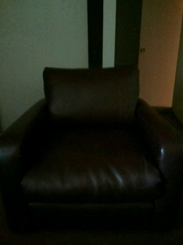 Pleather couch set